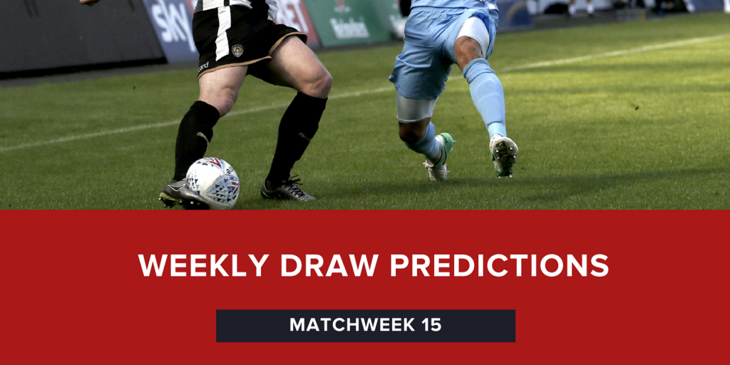 Draw Predictions | Matchweek 15 | Seven of The Best (7OTB)