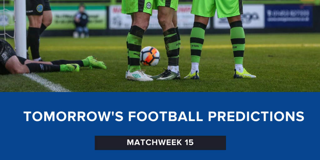 Tomorrow's Football Predictions | Week 15 | Seven of the Best (7OTB)